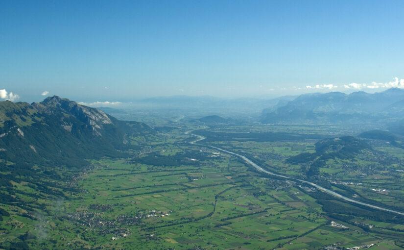 St.Galler Rheintal mit Blick auf Liechtenstein und Vorarlberg